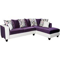 Flash Furniture Riverstone Implosion Velvet Sectional Sofa. #purplecouch #purplelivingroom #funkthishouse