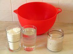 Refrescar la masa madre Liquid Measuring Cup, Bread Recipes, Tableware, Food, World, Sweet Bread, Sweet And Saltines, Pretzels, Beverages