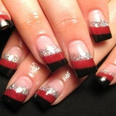 Love the red, black, and silver look.