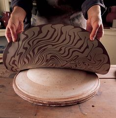 Magnificent Marbling: Using Colored Slips to Create Marbled Patterning on Pottery