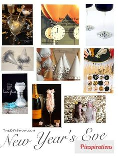DIY ideas for New Years Eve parties, decor, countdown, party hats #NYE #pinterest