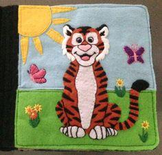 Tiffany's Animal Quiet Book - Tiger Page
