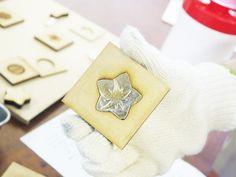 MDFの型でつくる錫(すず)の箸置きワークショップ