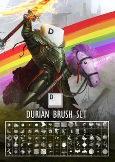 Durian Brushes by theDURRRRIAN.deviantart.com on @DeviantArt