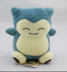 "2015 1pcs 6""15cm Pokemon Plush Toy Snorlax Plush Anime New Rare Soft Stuffed Animal Doll For Kid Gif KaBiShou"