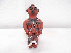 Coiled Jemez Pottery Native American Indian Pueblo Mudhead Storyteller C. Fragua