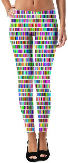Neon Light Show Dubstep Custom Rave Revolution Street Style Leggings by Willy Badu.