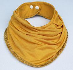 Items similar to Baby bandana bib *trim can be changed on Etsy Adult Bibs, Baby Scarf, Bandana Bib, Handmade Baby, Our Baby, Baby Bibs, Sewing, Cotton, Kids