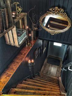 Dream Home Design, My Dream Home, Goth Home Decor, Dark Interiors, Gothic House, Home And Deco, House Goals, Interior Decorating, New Homes