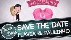 Save The Date Personalizado Casamento (Personagem) - Flávia e Paulinho