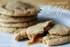 Caramel Apple Cider Cookies!  These cookies are seriously amazing!