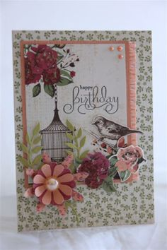 kaisercraft lady rose paper collection, stampin up blossom party die
