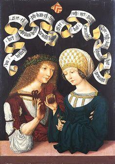 Pair of Lovers, c 1480