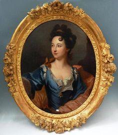 Portrait de femme de qualité, Ecole française du XVIIIeme siècle