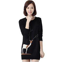 Partiss Womens Deer Pattern Mid-Long Sweater,S,Black Partiss http://www.amazon.com/dp/B00R12J0WE/ref=cm_sw_r_pi_dp_Fa5Jub0B613SJ
