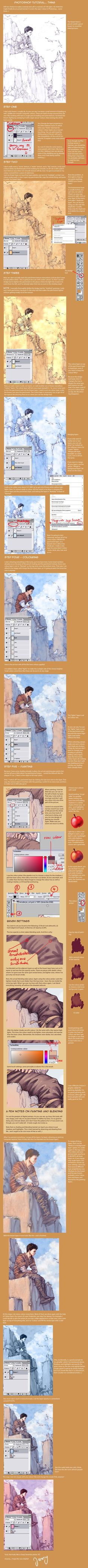 Colouring in Photoshop by =Gold-Seven