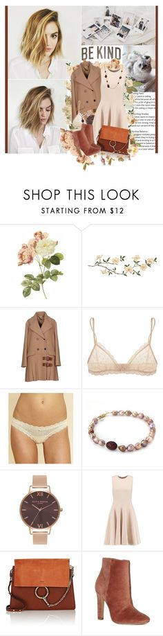 """""""Here's to taking what you came for And here's to running off the pain"""" by winfreda ❤ liked on Polyvore featuring Miu Miu, Eberjey, Olivia Burton, Michael Kors, Chloé, Joie and Blu Bijoux"""