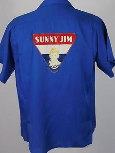 """Vintage 50s #""""sunny jim"""" king louie blue bowling #shirt  sz l bowl #kingpin ,  View more on the LINK: http://www.zeppy.io/product/gb/2/252238329844/"""