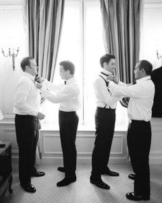 A Gent's Guide on How to Tie a Tie for the Wedding Day | Martha Stewart Weddings