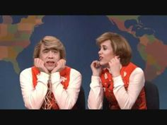 SNL: Garth and Kat! Hilarious singing couple who make up their songs on the spot! So funny to watch them try to copy eachother!