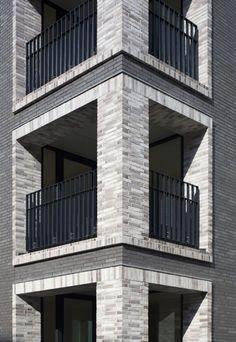 Modern Residential Architecture, Plans Architecture, Cultural Architecture, Education Architecture, Brick Detail, Brick Construction, Building Facade, Facade Design, Brickwork