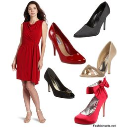Which-shoes-go-with-Red-Dress
