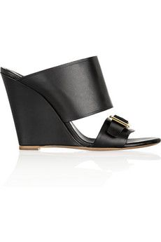 Chloé Buckle-detailed leather mules