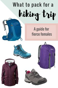 Hiking packing guide for females: best hiking rucksacks for women, best hiking boots for women and fashionable waterproof jackets, plus everything else you need to pack for a hiking holiday.  #Hiking #Outdoors #Packinglist