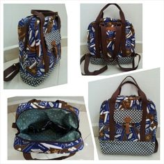 Vintage Biscuit Box Backpack/Sling Bag/ Handcarry
