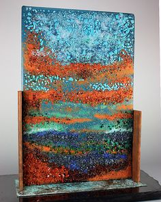 Sunrise, Sunset by Colleen Gyori: Art Glass Sculpture available at www.artfulhome.com