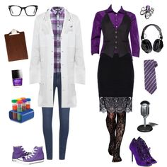 Female Carlos and Cecil-Welcome to Night Vale by conquistadorofsorts on Polyvore featuring Prada, ONLY, Paige Denim, Pinko, Gipsy, Nicholas Kirkwood, Tom Ford, Proenza Schouler, Spitfire and ferm LIVING