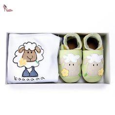 Inch Blue - 1550 L - Coffret Cadeau - Mouton - Vert Pastel / Blanc - T 19-20 cm - 6-12mois - Chaussures inch blue (*Partner-Link)