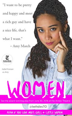Pinners, you have to go see Isabel Kanaan in Women! An award-winning feminist mashup by Chiara Atik is coming to Canada for the first time this June. You don't have to sell your hair to see it: tickets are just $12. They're selling fast at fringetoronto.com! #toronto #feminism #badass #comedy