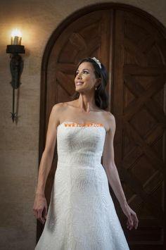 A-line Tulle Glamorous & Dramatic Wedding Dresses 2014