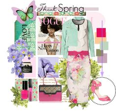 """""""Think Spring!"""" by pattykake ❤ liked on Polyvore"""