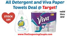 Loving these household deals! Great week to stock up! Stock Up on All Detergent and Viva Paper Towels @ Target!  Click the link below to get all of the details ► http://www.thecouponingcouple.com/stock-up-on-all-detergent-and-viva-paper-towels-target/ #Coupons #Couponing #CouponCommunity  Visit us at http://www.thecouponingcouple.com for more great posts!