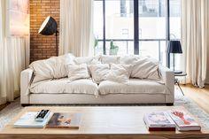 COM ARES DE NOVA YORK linen sofa cover