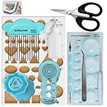 Juya Advanced Paper Quilling Tools Kits with Board, Slotted, Glue Bottle and Others (Blue Tools) - to deal organization Quilling Comb, Quilling Paper Craft, Fun Crafts, Arts And Crafts, 3d Paper Art, Quilling Tutorial, Quilling Techniques, Coupon Binder, Kit