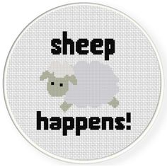 Charts Club Members Only: Sheep Happens! Cross Stitch Pattern