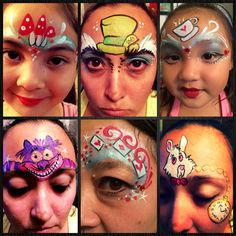 Alice in Wonderland Face Painting Designs - twinklefacepainting