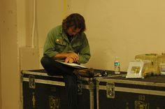 Eddie backstage