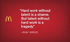 Hard work - Krocism. #motivation #inspiration #mcdonalds