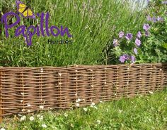 Woven Willow Hurdle Edging (H20cm x L10m) This woven willow lawn edging is an attractive and practical solution for neatening up your garden edges. Perfect for creating a clean, crisp divide between lawns, flowerbeds, vegetable patches and any other areas of your g