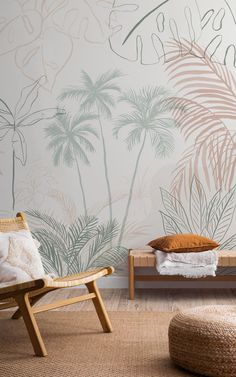 Explore our exciting collection of new and on trend wallpapers and get inspired by this unique range of designs, inspired by the latest trends. Get creative and revitalise your space today with our fresh arrivals. Tropical Wallpaper, Botanical Wallpaper, Beach Wallpaper, New Wallpaper, Childrens Shop, Color Feel, Mural Ideas, Bespoke Design, Tropical Leaves