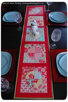 120-Minute Gift: Drunkard's Path Table Runner « Moda Bake Shop