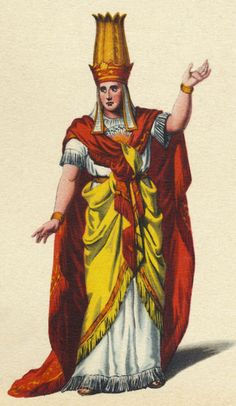 """Wolfgang Amadeus Mozart 's 'Magic Flute' - Costume for Sarastro"""