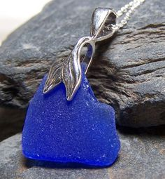 Cobalt Mermaid necklace found on Etsy.com