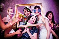 Charlotte and Steve's modern real wedding is full of chic purples and pinks Event Photo Booth, Photo Props, Wedding Frames, Deep Purple, Birthday Decorations, Bright Pink, Wedding Colors, Real Weddings, Our Wedding