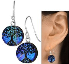 Dichroic Glass Tree Of Life Earrings at The Animal Rescue Site