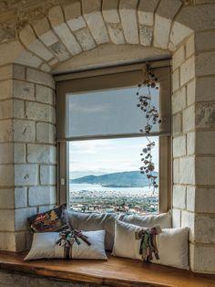 Windows _ stone | school | Volos | architects | Pelion | public building | interior | design | traditional architecture | construction _ visit us at: www.philippitzis.gr Windows